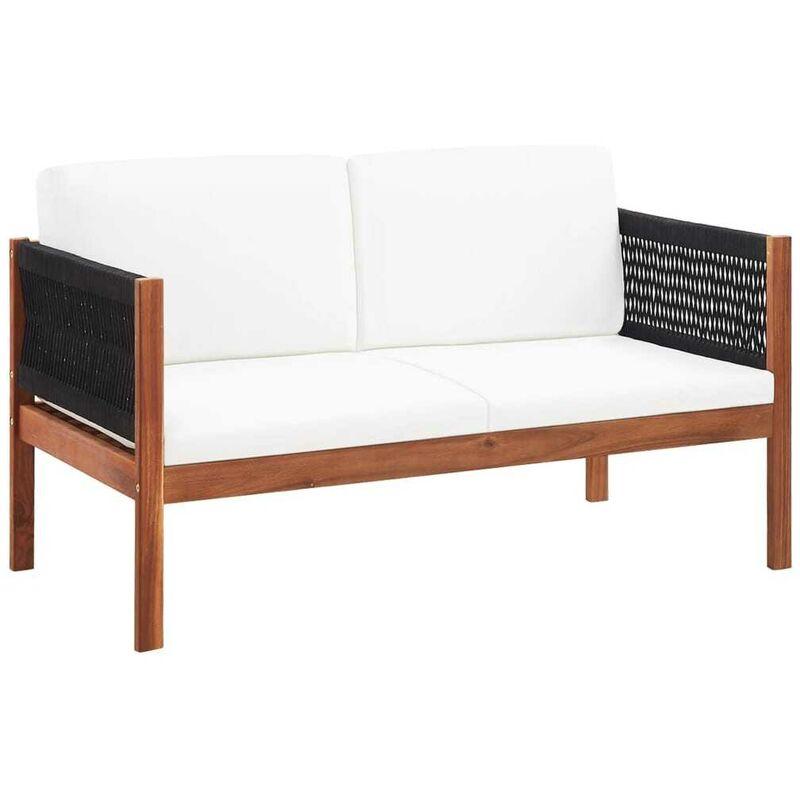 Gartensofa 2-Sitzer Massivholz Akazie VD45473 - Hommoo