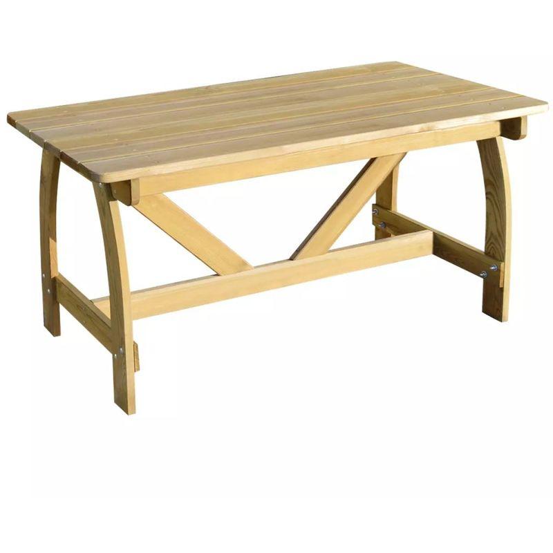 Gartentisch 150x74x75 cm Imprägniertes Kiefernholz VD26770 - Hommoo