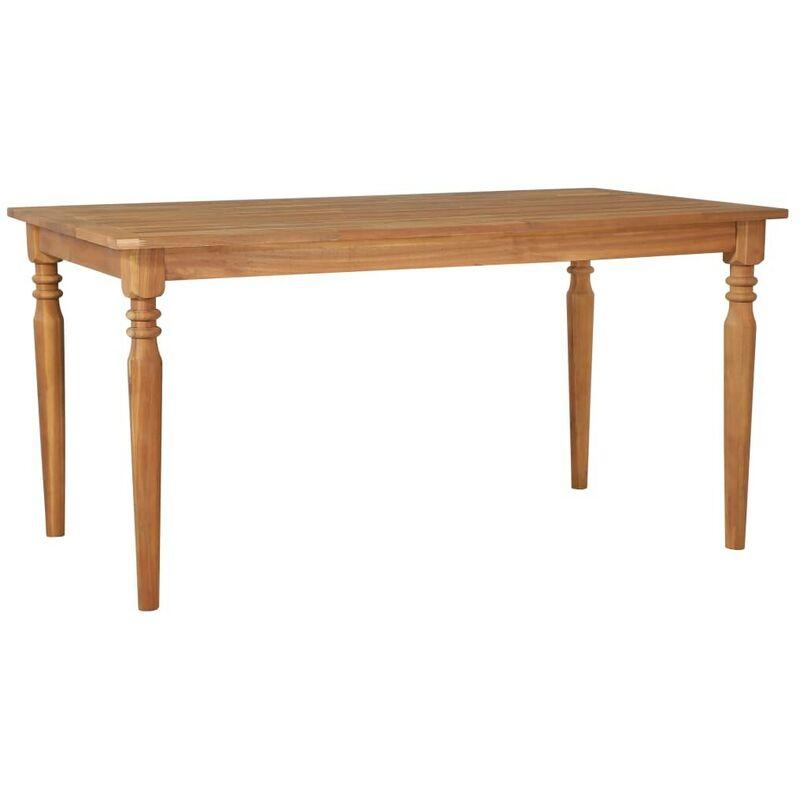 Gartentisch 150x90x75 cm Akazie Massivholz VD28462 - Hommoo