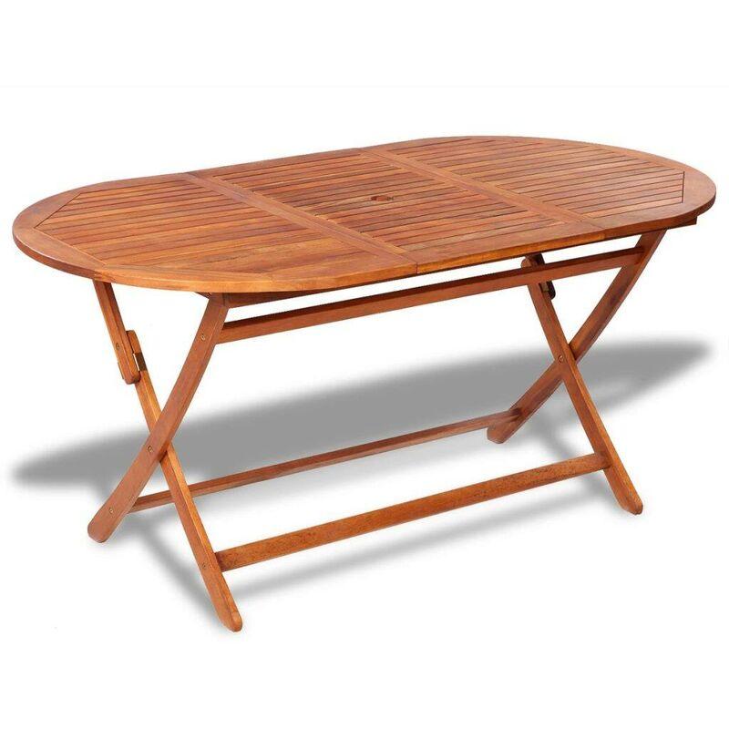 Gartentisch 160x85x75 cm Akazie Massivholz VD26703 - Hommoo