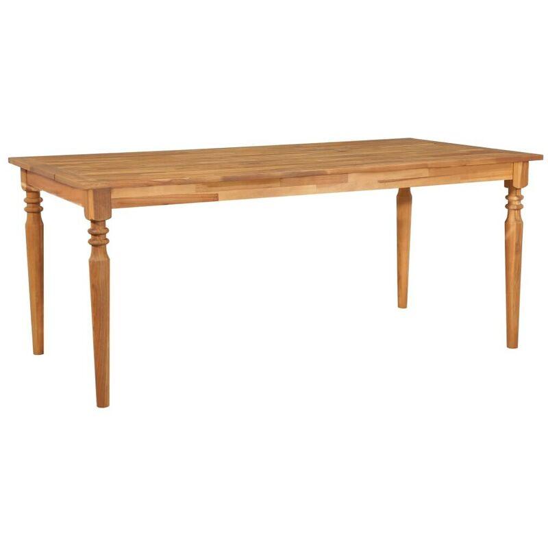 Gartentisch 170x90x75 cm Akazie Massivholz VD29725 - Hommoo