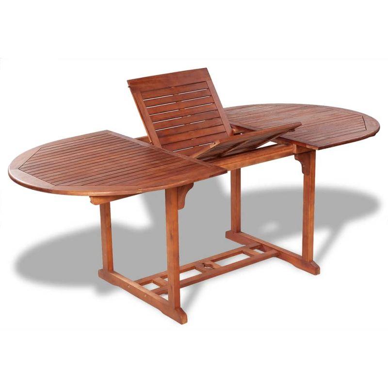 Gartentisch 200x100x74 cm Akazie Massivholz VD26705 - Hommoo