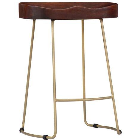 Hommoo Gavin Bar Stools 2 pcs Solid Mango Wood QAH13685
