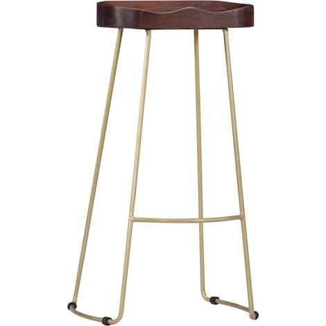 Hommoo Gavin Bar Stools 2 pcs Solid Mango Wood QAH13687