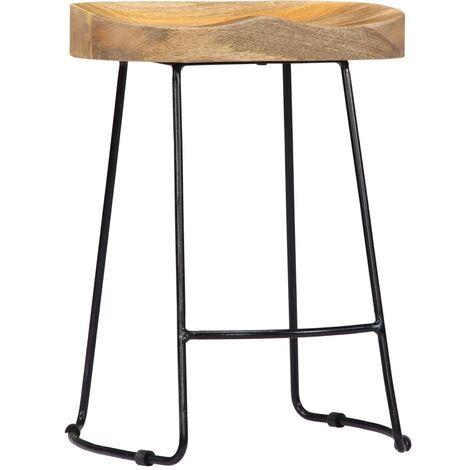 Hommoo Gavin Bar Stools 2 pcs Solid Mango Wood QAH13688