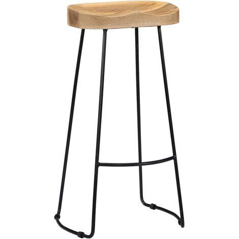 Hommoo Gavin Bar Stools 2 pcs Solid Mango Wood QAH13690