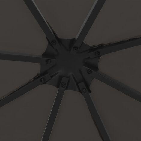 Hommoo Gazebo 3x3 m Anthracite QAH46236