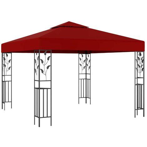 Hommoo Gazebo 3x3 m Wine Red