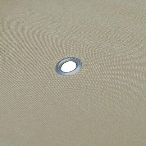 Hommoo Gazebo Cover Canopy Replacement 310 g / m2 Beige 3 x 3 m QAH26287