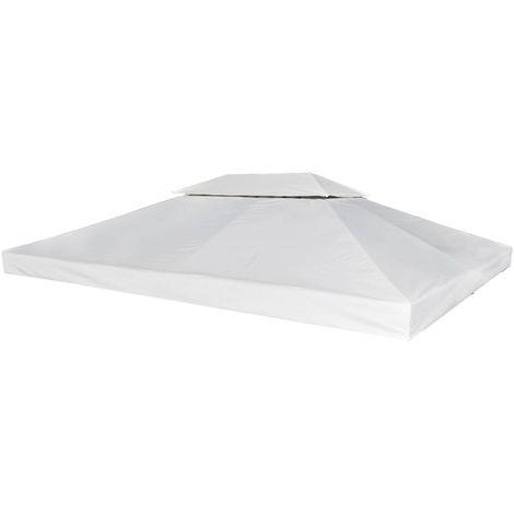 Hommoo Gazebo Cover Canopy Replacement 310 g / m2 Cream White 3 x 4 m