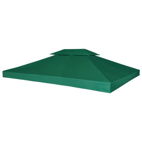 Hommoo Gazebo Cover Canopy Replacement 310 g / m2 Green 3 x 4 m VD26294