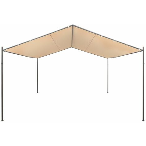 Hommoo Gazebo Pavilion Tent Canopy 4x4 m Steel Beige QAH27550