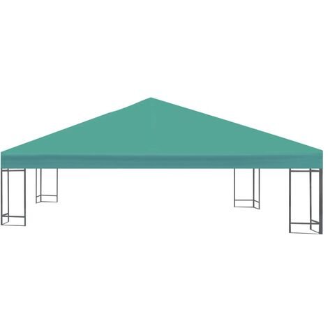 Hommoo Gazebo Top Cover 310 g/m2 3x3 m Green QAH28964