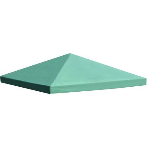 Hommoo Gazebo Top Cover 310 g/m2 3x3 m Green VD28964