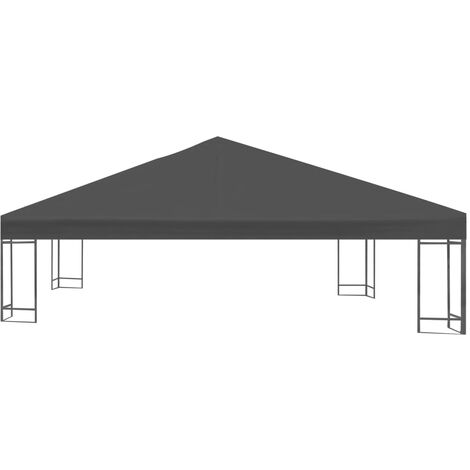 Hommoo Gazebo Top Cover 310 g/m2 3x3 m Grey QAH28966