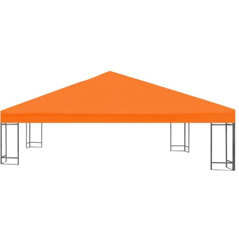 Hommoo Gazebo Top Cover 310 g/m2 3x3 m Orange QAH28965