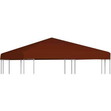 Hommoo Gazebo Top Cover 310 g/m2 3x3 m Terracota VD30037