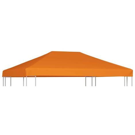 Hommoo Gazebo Top Cover 310 g/m2 4x3 m Orange VD28971