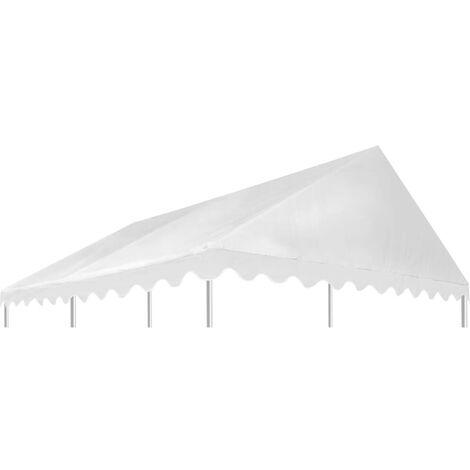 Hommoo Gazebo Top Cover PVC 500 g/m2 3x4 m White VD29532