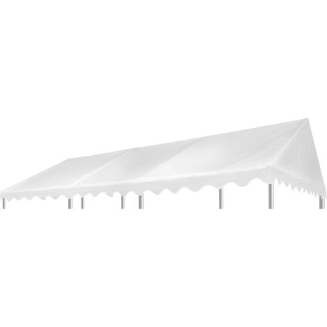 Hommoo Gazebo Top Cover PVC 500 g/m2 6x4 m White QAH29534