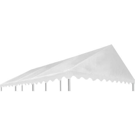 Hommoo Gazebo Top Cover PVC 500 g/m2 6x4 m White VD29534
