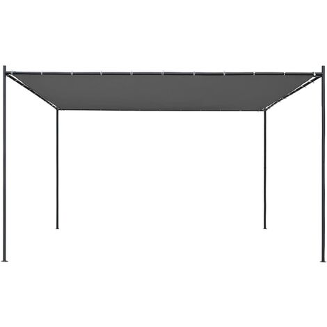 Hommoo Gazebo with Flat Roof 4x4x2.4 m Anthracite QAH46233