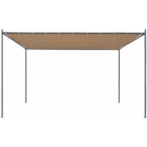 Hommoo Gazebo with Flat Roof 4x4x2.4 m Beige QAH28961