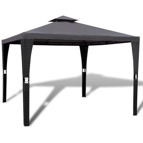 Hommoo Gazebo with Roof 3x3 m Dark Grey VD26496