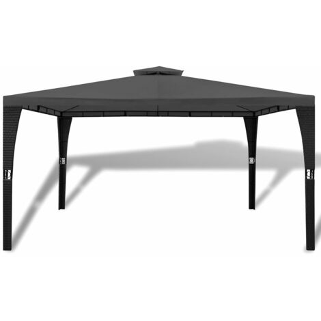 Hommoo Gazebo with Roof 3x4 m Dark Grey QAH26498