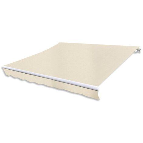 Hommoo Gelenkarmmarkise 400 cm Cremeweiß DDH15474