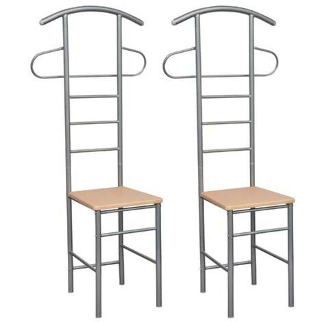 Hommoo Gentleman's Valet Chairs 2 pcs Metal