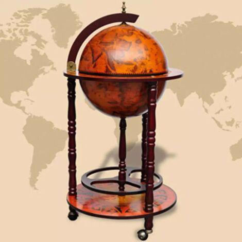 Hommoo Globe Bar Wine Stand Wood