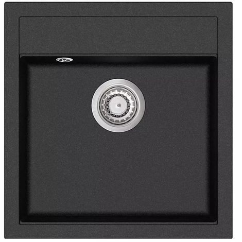 Hommoo Granite Kitchen Sink Single Basin Black