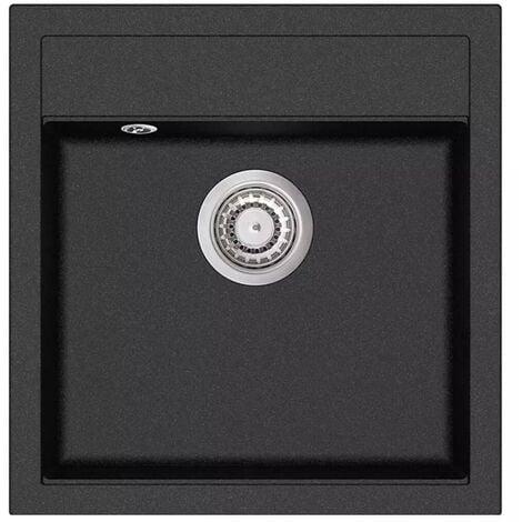 Hommoo Granite Kitchen Sink Single Basin Black VD04962