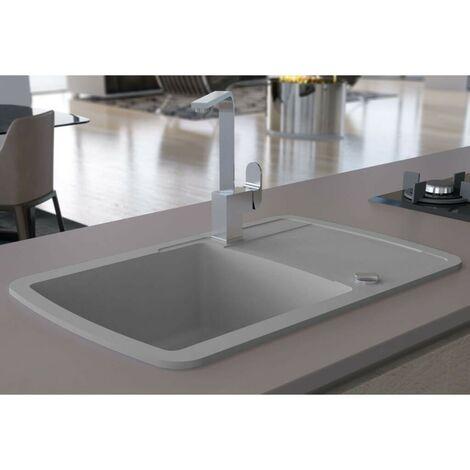 Hommoo Granite Kitchen Sink Single Basin Grey