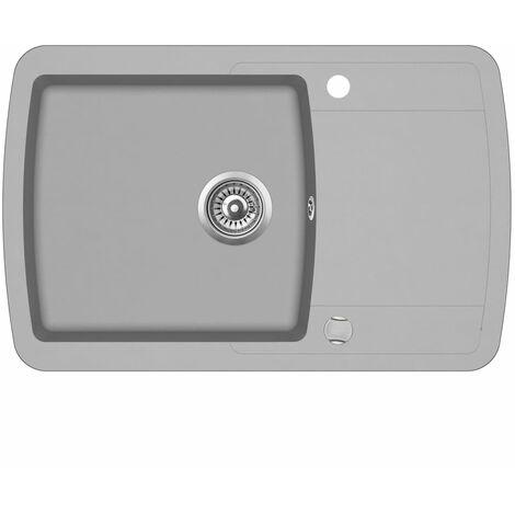Hommoo Granite Kitchen Sink Single Basin Grey QAH04959