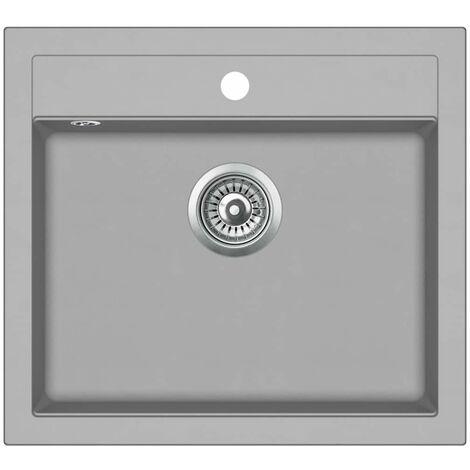 Hommoo Granite Kitchen Sink Single Basin Grey QAH04969