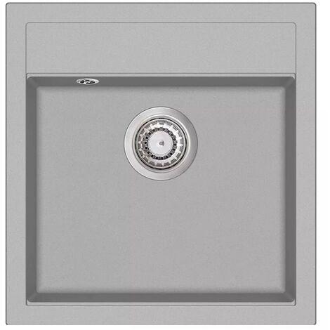 Hommoo Granite Kitchen Sink Single Basin Grey VD04963