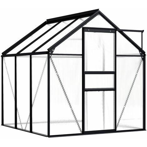 Hommoo Greenhouse Anthracite Aluminium 3.61 m2 QAH46366