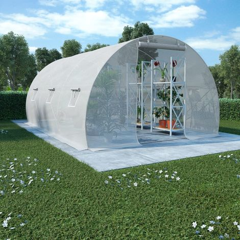 Hommoo Greenhouse with Steel Foundation 13.5m2 450x300x200 cm VD29867