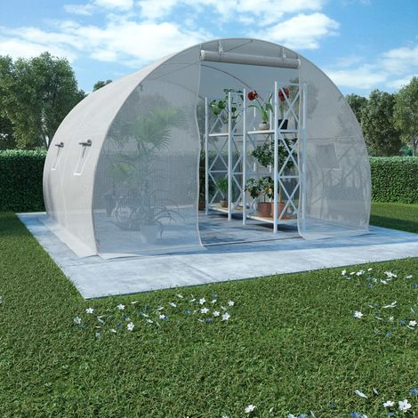 Hommoo Greenhouse with Steel Foundation 9m2 300x300x200 cm VD29866