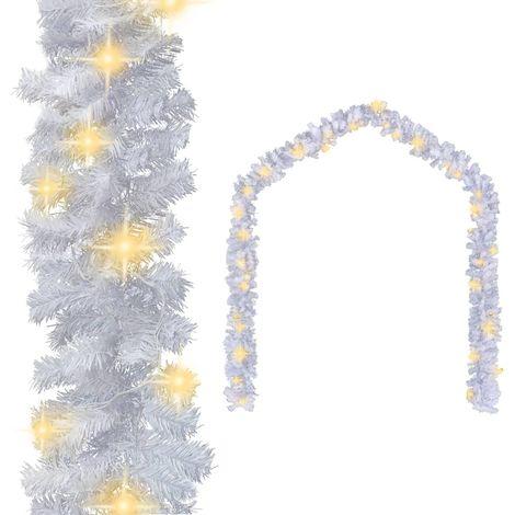Hommoo Guirnalda de Navidad con luces LED blanco 20 m