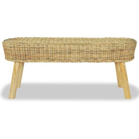 Hommoo Hall Bench 110x35x45 cm Natural Rattan QAH10672