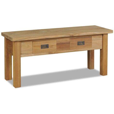 Hommoo Hall Bench Solid Teak 90x30x40 cm
