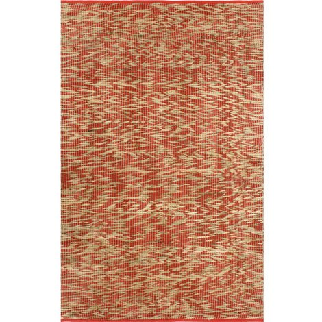 Hommoo Handmade Rug Jute Red and Natural 160x230 cm