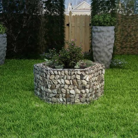 Hommoo Hexagonal Gabion Planter 100x90x50 cm VD04654