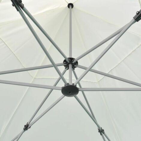 Hommoo Hexagonal Pop-Up Foldable Marquee Cream White 3.6x3.1 m QAH26802