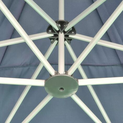 Hommoo Hexagonal Pop-Up Foldable Marquee Dark Blue 3.6x3.1 m QAH26803