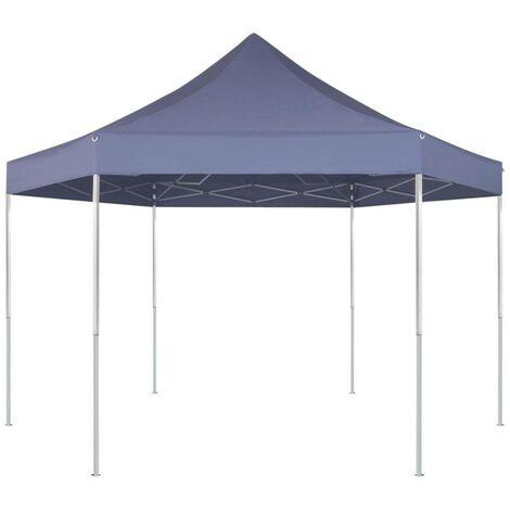 Hommoo Hexagonal Pop-Up Foldable Marquee Dark Blue 3.6x3.1 m VD26803