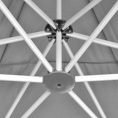 Hommoo Hexagonal Pop-Up Foldable Marquee Grey 3.6x3.1 m QAH26804